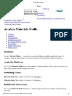 Instalacion de Accelrys Materials Studio