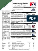 Minor League Report 15.06.12