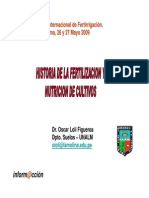 2. Oscar Loli - Historia de La Fertilizacion y Nutricion