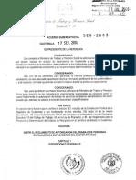 Acuerdo Gubernativo Nmero 528-2003