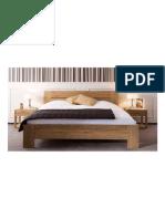Modelo de una cama moderna