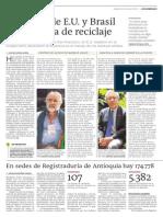 Ciudades de E.U. y Brasil dan cátedra de reciclaje