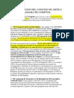 Cámara de Comptos . Fiscalizacion Concejo de Artica y Comparación Con La Fiscalización de La Cámara Al Ayuntamiento de Berrioplano.