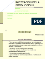 Administracion de La Produccion I, Unidad II