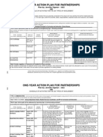 One-Year Action Plan - J. Sigman