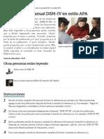 Cómo Citar El Manual DSM-IV en Estilo APA