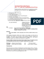International Observership Program Guidelines-Application-Credit Card-Immunization Record 2014