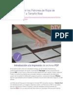 Cómo Imprimir Los Patrones de Ropa de Archivos PDF a Tamaño Real