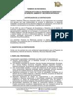 Términos de Referencia para Contratación de Especialista para el Programa de Derechos y Ecosistemas de Derecho, Ambiente y Recursos Naturales