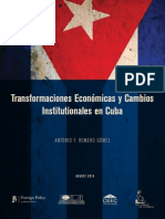 Economic Transformation Institutional Change Cuba Romero