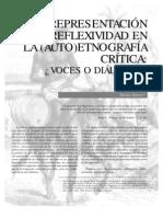 RepresentaciÓn y Reflexividad en La (Auto)EtnografÍa CrÍtica: