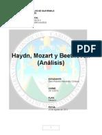 Análisis de Haydn, Mozart y Beethoven