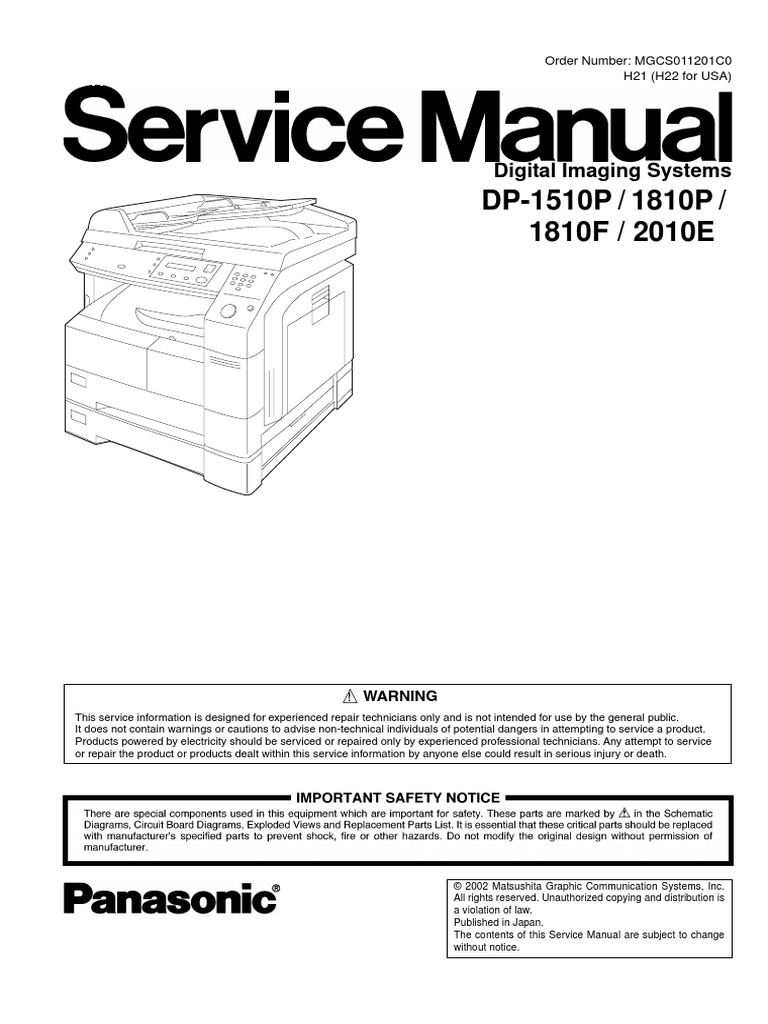 kyocera mita dp 410 service repair manual parts list