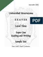 EXAVER 3 Paper 1 Sample Exam