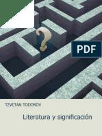 TODOROV. Literatura y Significación