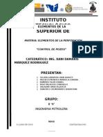 Sistema de Control de Pozos Investigación