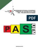 PAS-UEM Programa Das Disciplinas