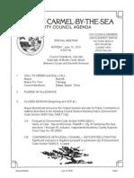 Special City Council Meeting Agenda 06-15-15
