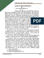 The Date of Sridharacharya