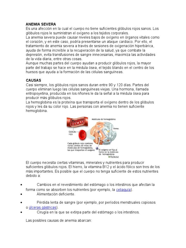 Anemia Severa