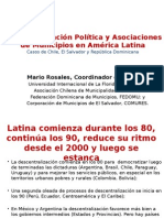 Borrador Descentralización y Asociaciones Municipales en a. Latina