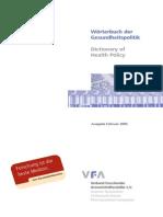 Wörterbuch Der Gesundheitspolitik Feb 2005
