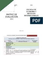 Matriz de Evaluacion (Total)
