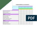 Cronograma de Actividades - Tesis