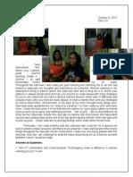Educ 33-Interview With a Teacher