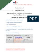 [Braindump2go] New Released 74-409 Exam Questions Free Download (21-30)