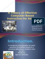 a theory of effective computer-based instruction for adults final