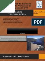 Aliviadero Tipo Canal Lateral