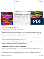 How to Fix Maya - Reset Maya, Rescue Disappearing Objects, And More.