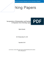 Incorporation of Municipalities and Population Growth – A Propensity Score Matching Approach by Björn Kauder (2014)
