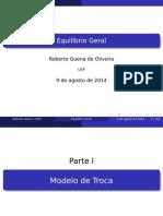 Equilíbrio Geral por Roberto Guena de Oliveira