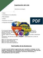 Organización Del Club AVENTUREROS