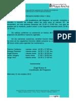 Invitación de Trabajo a Tesistas Pr 2010 y Pr 2011