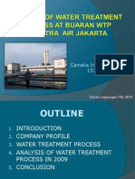 Analysis of Water Treatment Process at Buaran WTP