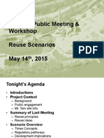 Holyoke Public Meeting &  Workshop Reuse Scenarios  May 14th , 2015