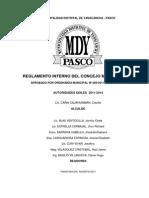 Reglamento Interno Del Concejo Municipal Yanacancha