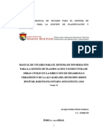 Manual para sistema de informacion