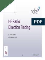 HF Radio Direction Finding