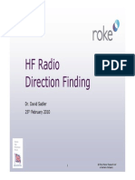 HF Radio Direction Finding