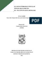 Studi Evaluasi dan Perbaikan Instalasi Pengolahan Lindi TPA Suwung Denpasar