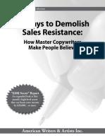 11 ways to demolish sales resistance