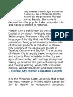 Maranao Education