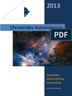 efemerides astronomicas 2013