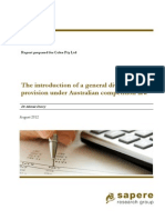 General Divestiture Provision Under Australian Competition Law