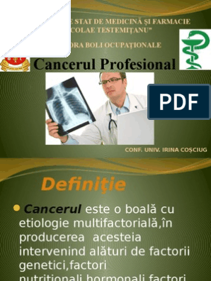 cancerul profesional)