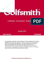 GOLF Golfsmith Jan 2010 Presentation